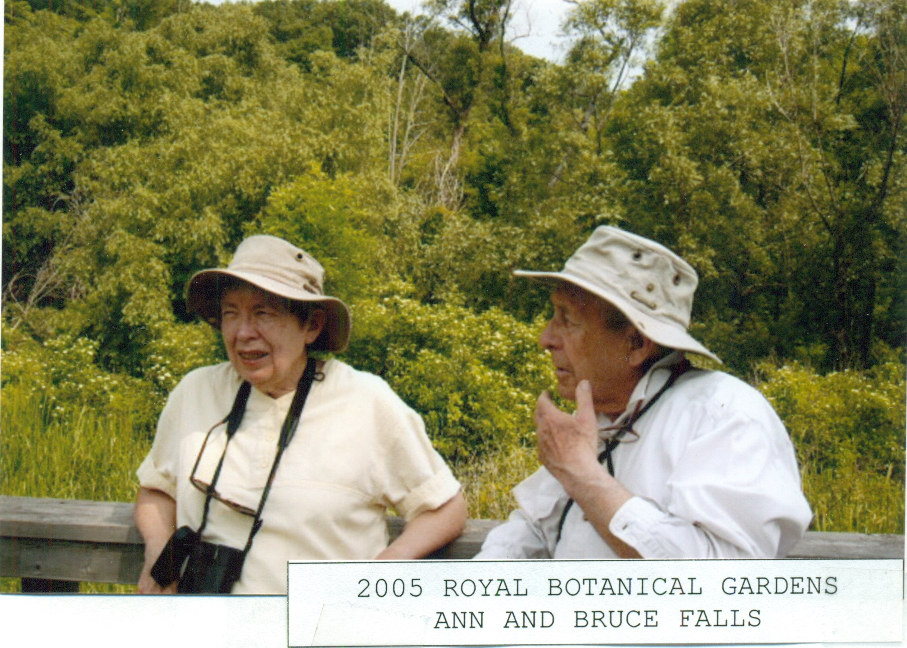Bruce and Ann Falls, RBG , 2005